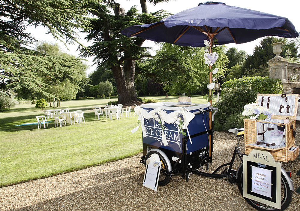 One of our Ice cream bicycles at Cranford Hall, Kettering.